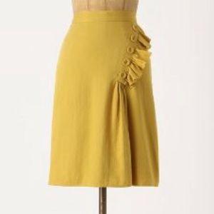 Anthropologie Burlapp Golden Rays Skirt